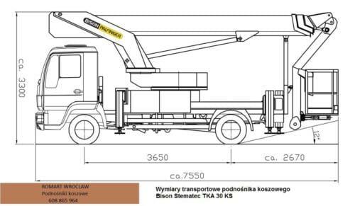 Bison TKA 30 KS wymiary auta